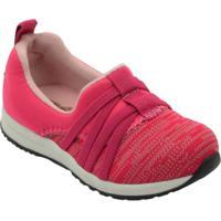 4d4050a88e4 Tênis Infantil Jogging Calce Fácil Feminino - Feminino-Pink
