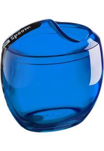 Porta Algodão & Cotonetes Spoom Azul Coza