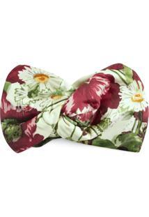 Gucci Headband De Seda Com Estampa Floral - Branco