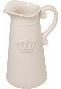 Jarra De Cerâmica Decorativa Crown