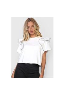 Camiseta Forum Babados Branca