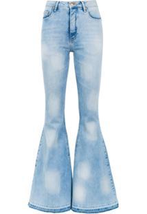 Amapô Calça Jeans Super Flare 'Dakota' - Azul