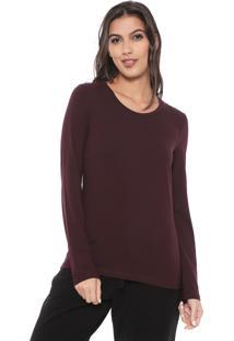 Camiseta Liz Easywear Lisa Bordã´ - Bordã´ - Feminino - Algodã£O - Dafiti