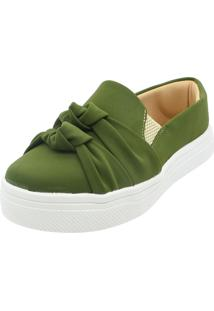 Tenis Hope Shoes Slipper Nó Duplo Verde Militar - Tricae