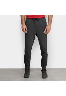 Calça Adidas Mh 3S Pnt Masculina - Masculino-Preto+Branco