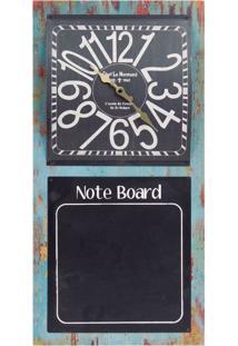 Relógio De Parede Quadro Negro Oldway Preto