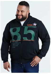 Casaco Masculino Moletom Plus Size Águia Tex