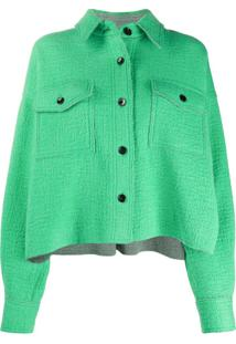 Isabel Marant Jaqueta Cropped Dennao - Verde