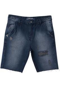 Bermuda John John Clássica Rennel Jeans Azul Masculina (Jeans Medio, 36)