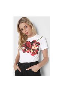Camiseta Calvin Klein Estampada Branca