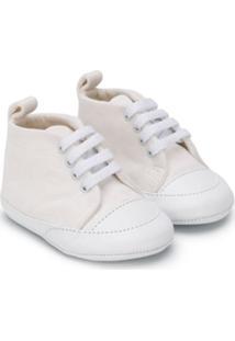 Fendi Kids Sapato De Bebê Com Cadarço - Branco