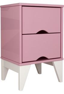 Mesa De Cabeceira Twister 2 Gv Quartzo Rosa E Branca