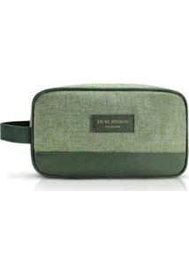 Necessaire Jacki Design Com Alça Lateral Be You - Unissex-Verde
