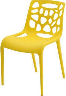 Cadeira Giovana Polipropileno Cor Amarela - 38022 - Sun House