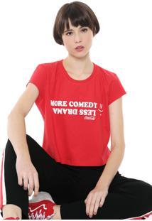 Camiseta Cropped Coca-Cola Jeans Aroma Vermelha