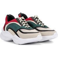 f7828d584 Tênis Chunky Capodarte Sneaker Feminino - Feminino-Bege+Verde