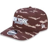 3b40f474fa Bone Golfer New York Yankees Mlb Aba Curva Snapback Marrom New Era -  Masculino-Marrom