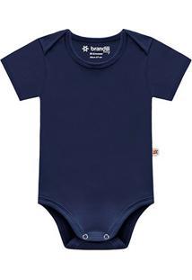 Body Infantil Brandili Cotton Masculino - Masculino-Marinho