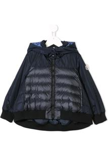 Moncler Kids Hooded Rain Jacket - Azul