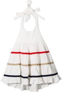 Piccola Ludo Vestido Frente Única - Branco
