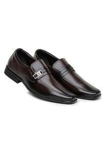 Sapato Social Confortável Masculino Calce Fácil Café