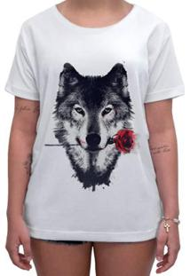 Camiseta Impermanence Estampada Lobo Feminina - Feminino