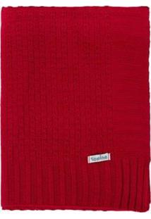Manta Cobertor De Berço Infantil Tamine Tricô Luxo - Unissex-Vermelho