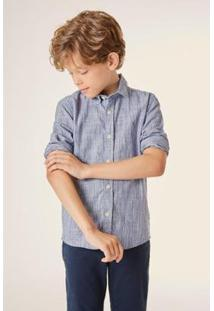 Camisa Pf Ml Flame Leva Reserva Mini Masculina - Masculino-Azul Claro