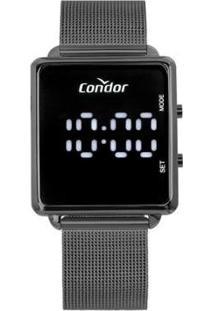 Relógio Condor Feminino Digital Cinza - Feminino-Cinza
