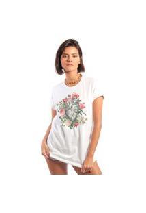 Camiseta Feminina Mirat Florir Branca
