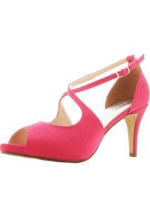 Peep Toe Santa Scarpa Ss25 Rosa Pink