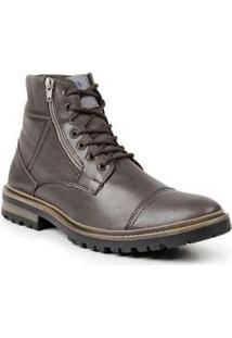 Bota Desert Boot Masculina Polo State Patter Marrom Escuro Coffee