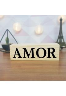 Cubo Decorativo Com Letras Em Acrílico Amor