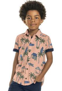 Camisa Infantil Praiana Laranja