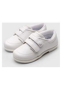 Sapato Pimpolho Menino Liso Branco