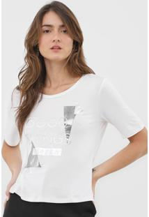 Camiseta Morena Rosa Good Things Branca