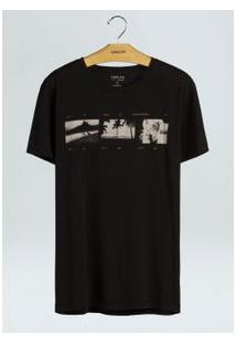 T-Shirt Soft Used Uki Film-Preto