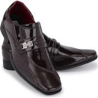 b49fcb432 Sapato Social Couro Verniz Schiareli Masculino - Masculino-Marrom
