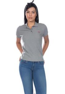 Camisa Polo Levis Classic Batwing - Feminina - Feminino-Cinza d29cbf43a6416