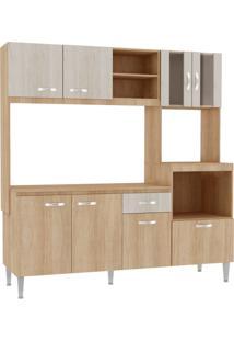 Cozinha Compacta Tati 8 Pt 1 Gv Carvalho Com Blanche