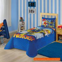 939312f584 Colcha Infantil Patrulha Canina (150X210) Algodão Azul