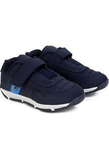 Sapato Infantil Klin Outdoor Velcro - Masculino-Marinho