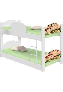 Beliche Infantil Safari Macaquinhos Casah - Branco/Multicolorido - Dafiti