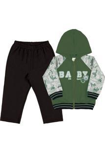 Conjunto Bebê Menino - Masculino-Verde