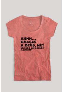 Camiseta Reserva Grande Momento Feminina - Feminino-Vermelho Claro