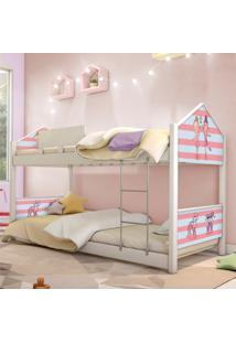 Beliche Prime Casa Juvenil Bailarinas Casah - Branco/Rosa - Menina - Dafiti