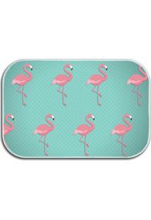 Tapete Decorativo Wevans Flamingos 40Cm X 60Cm Turquesa