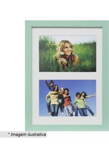 Painel Multifotos Insta- Verde Claro & Branco- 28X21Kapos