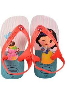 e708115f80621a Chinelo Bebê Havaianas Branca De Neve Feminina - Feminino-Branco+Vermelho