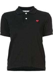 Comme Des Garçons Play Camisa Polo Mangas Longas - Preto